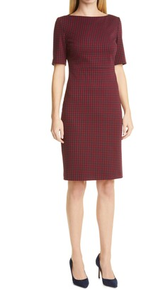 HUGO BOSS Dalula Bateau Neck Sheath Dress