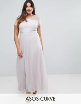 Asos Lace Insert Panelled Maxi Dress