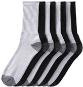 Joe Fresh Men's 8 Pack Crew Socks, Grey (Size 10-13)