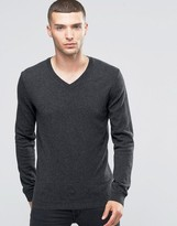 Sisley V-Neck Sweater in Cashmere Blend