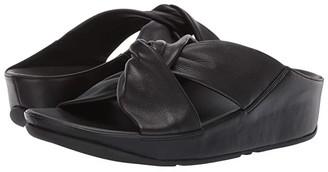 FitFlop Twiss Slide (Black) Women's Slide Shoes