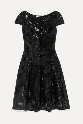 Talbot Runhof Noix Sequined Macrame Dress - Black