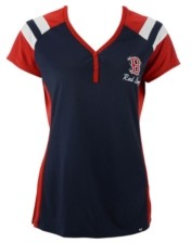 '47 Women's Boston Red Sox Triple Play Henley Shirt