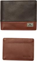 Rip Curl Block Rfid 2 In 1 Leather Wallet Brown