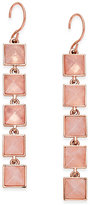 Vera Bradley Rose Gold-Tone Pink Stone Drop Earrings