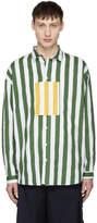 Sunnei Green and White Pocket Detail Shirt