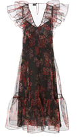 Jill Stuart Cara Printed Organza Dress