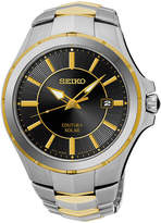 Seiko Coutura Mens Two-Tone Stainless Steel Solar Bracelet Watch