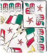 Dolce & Gabbana Italian flag print neck scarf - women - Silk - One Size