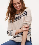 LOFT Rope Striped Sweater