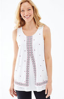 J. Jill Embroidered Layered Knit Tank