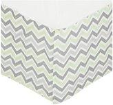 American Baby Company 100% Cotton Crib Skirt - Celery/Gray Zigzag