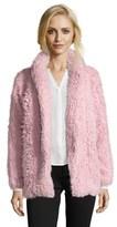 Romeo & Juliet Couture Woven Longsleeve Fluffy Fur Coat.