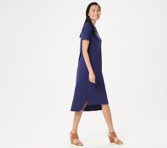 Halston H by Regular Essentials Scoop-Neck Midi Dress
