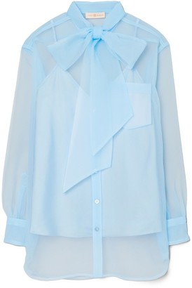 Tory Burch Organza Bow Blouse