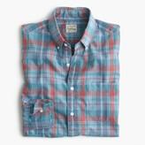 J.Crew Tall Secret Wash shirt in heather poplin plaid