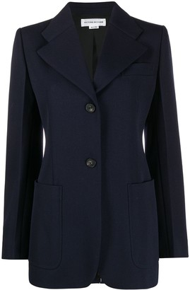 Victoria Beckham Button Front Blazer