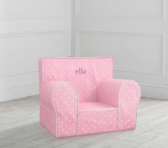 Pottery Barn Kids My First Light Pink Pin Dot Anywhere Chair Slipcover Only