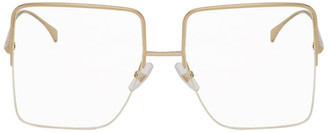 Fendi Rose Gold Large Square Glasses
