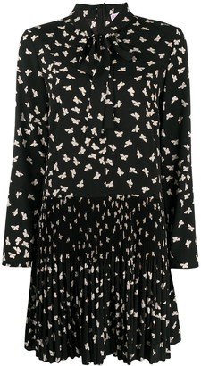 RED Valentino Butterfly Print Short Dress