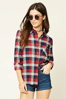 Forever 21 FOREVER 21+ Button-Front Plaid Shirt