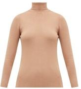Joseph Roll-neck Silk-blend Sweater - Womens - Camel