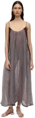 Yvonne S SLIP LACE AND CROCET LONG DRESS