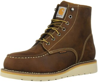 Carhartt Men's 6 Inch Waterproof Wedge Boot Steel Toe Industrial Oil Tanned Leather 10.5 M US