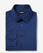Express Classic Star Print Long Sleeve Dress Shirt