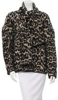 Sonia Rykiel Knit Leopard Pattern Coat