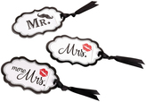 Lillian Rose Mustache & Red Lips Luggage Tag Set