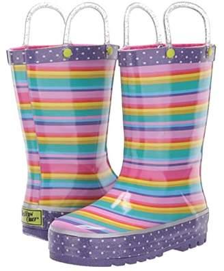 Western Chief Sweet Stripe Rain Boot (Toddler/Little Kid) (Multi) Girls Shoes