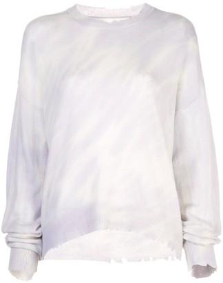RtA cashmere distressed jumper