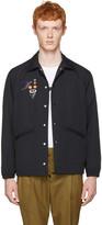 Toga Virilis Black Nylon Embroidered Jacket