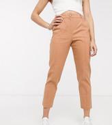 Asos DESIGN Petite ultimate linen cigarette suit trousers