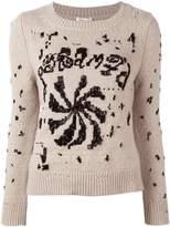 Marc Jacobs embellished round neck jumper