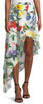 Alice + Olivia Joeanne Floral-Print Tiered Asymmetric Skirt