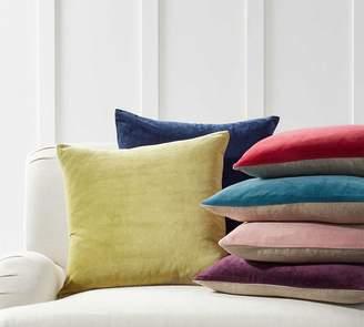 Pottery Barn Velvet with Linen Pillow Covers