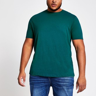 River Island Big and Tall turquoise short sleeve T-shirt