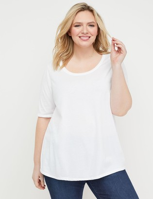 Lane Bryant Perfect Sleeve Scoop-Neck Tee