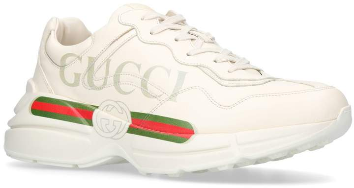 Gucci Rython Logo Stripe Sneakers