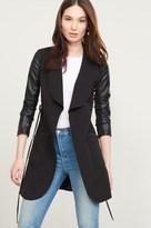 Dynamite Belted Faux Leather Jacket