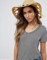 Vero Moda Cut Out Straw Floppy Hat