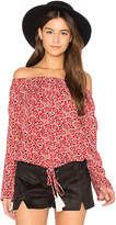 MinkPink Wanderlust Blouse in Red