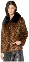 Kate Spade Faux Fur Three-Button Jacket (Leopard) Women's Clothing