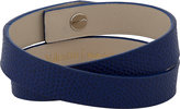 Valextra Men's Leather Wrap Bracelet-BLUE