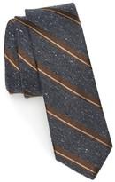 The Tie Bar Men's Stripe Nep Silk Skinny Tie