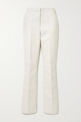 LADO BOKUCHAVA Faux Leather Straight-leg Pants - White