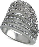 GUESS Gold-Tone Pave Multi-Row Ring