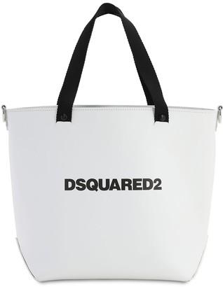 DSQUARED2 Medium D2 Leather Tote Bag